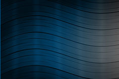 Dark Blue Background With Wavy Lines Stock Image