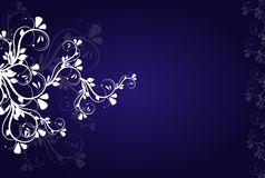 Dark blue background with white ornaments Royalty Free Stock Photography