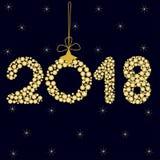 2018 on dark blue background, zero Royalty Free Stock Photos