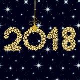 2018 on dark blue background, zero 2 Royalty Free Stock Images