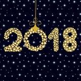 2018 on dark blue background, zero 3 Stock Images