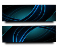 Dark Blue Banner Royalty Free Stock Photo