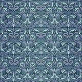 Dark blue baroque pattern Royalty Free Stock Photos
