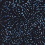 Dark Blue Batik Background Royalty Free Stock Image