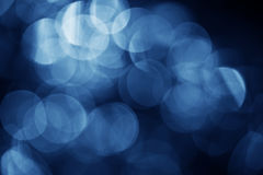 Dark blue bokeh Stock Photos