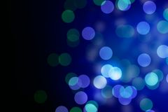 Dark blue bokeh light, abstract background. Royalty Free Stock Photography