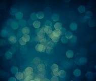 Dark blue bokeh light background Royalty Free Stock Photography