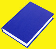 Dark blue book lying isolated Stock Photos