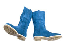Dark blue boots Royalty Free Stock Images