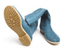Dark blue boots Stock Photography