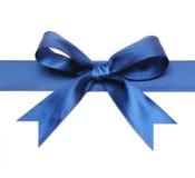 Dark blue bow. Isolated on white background Stock Photo