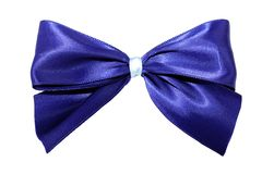 Dark blue bow Royalty Free Stock Images