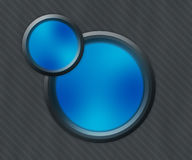 Dark Blue Button Shapes Background Stock Images