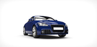 Dark Blue Car Front Royalty Free Stock Photography