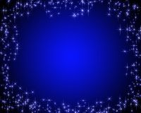 Dark blue card with stars. Dark blue card with the image of stars on edges Royalty Free Stock Photo