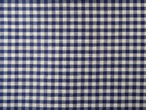 Dark blue checkered fabric Royalty Free Stock Photos