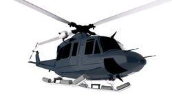 Dark Blue Chopper Isolated Stock Photos