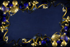 Dark blue christmas Stock Images