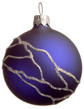Dark blue Christmas ball Royalty Free Stock Photography