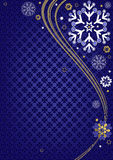Dark blue christmas frame Royalty Free Stock Images