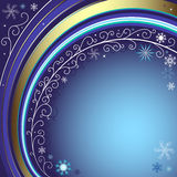 Dark blue christmas frame Royalty Free Stock Photography