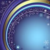 Dark blue christmas frame Royalty Free Stock Photography