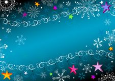 Dark blue Christmas frame Stock Photos