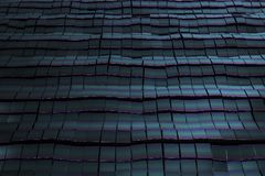 Dark blue and cian metal squares. At abstract background. 3D Render royalty free illustration