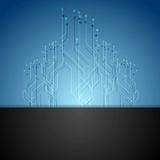 Dark blue circuit board tech background Stock Photography