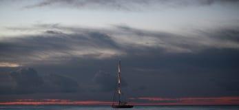 Dark blue clouds Stock Image