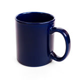 Dark blue coffee mug Royalty Free Stock Images
