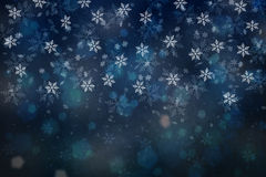 Dark blue color abstract snowflake copy space background Royalty Free Stock Photo