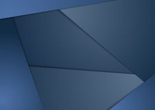 Dark blue corporate material tech background Stock Photography