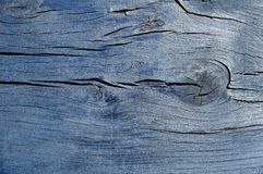 Dark blue cracked wooden boarding Stock Photo