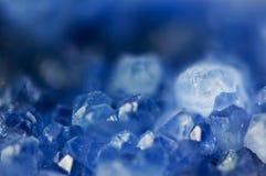 Dark blue crystal, natural nature mineral, Macro Royalty Free Stock Photos