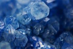 Dark blue crystal, natural nature mineral, Macro Royalty Free Stock Photo