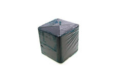 Dark blue cube for a toilet bowl Stock Images