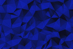 Dark Blue 3D Polygonal Surface Royalty Free Stock Photo