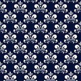 Dark blue damask pattern Stock Images