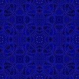 Dark blue decorative seamless pattern. Royalty Free Stock Photo