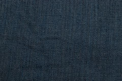 Dark blue denim texture Royalty Free Stock Photos