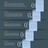 Dark blue design template Stock Photography