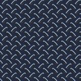 Dark blue diamond plate Stock Image