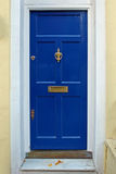 Dark blue door Royalty Free Stock Photo