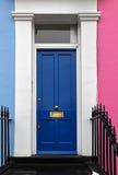 Dark blue door Royalty Free Stock Photos