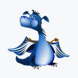 Dark blue dragon-New Year's a symbol of 2012. Dark blue dragon a symbol of new 2012 on east calendar royalty free illustration