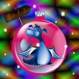 Dark blue dragon-New Year's a symbol of 2012 Royalty Free Stock Image