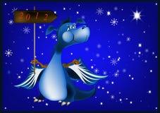 Dark blue dragon-New Year's a symbol of 2012 Stock Photo