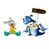 Dark blue dragon-New Year's a symbol of 2012 Stock Photos