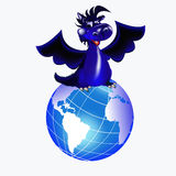 Dark blue dragon-New Year's a symbol of 2012. Dark blue dragon a symbol of new 2012 on east calendar Royalty Free Stock Photo